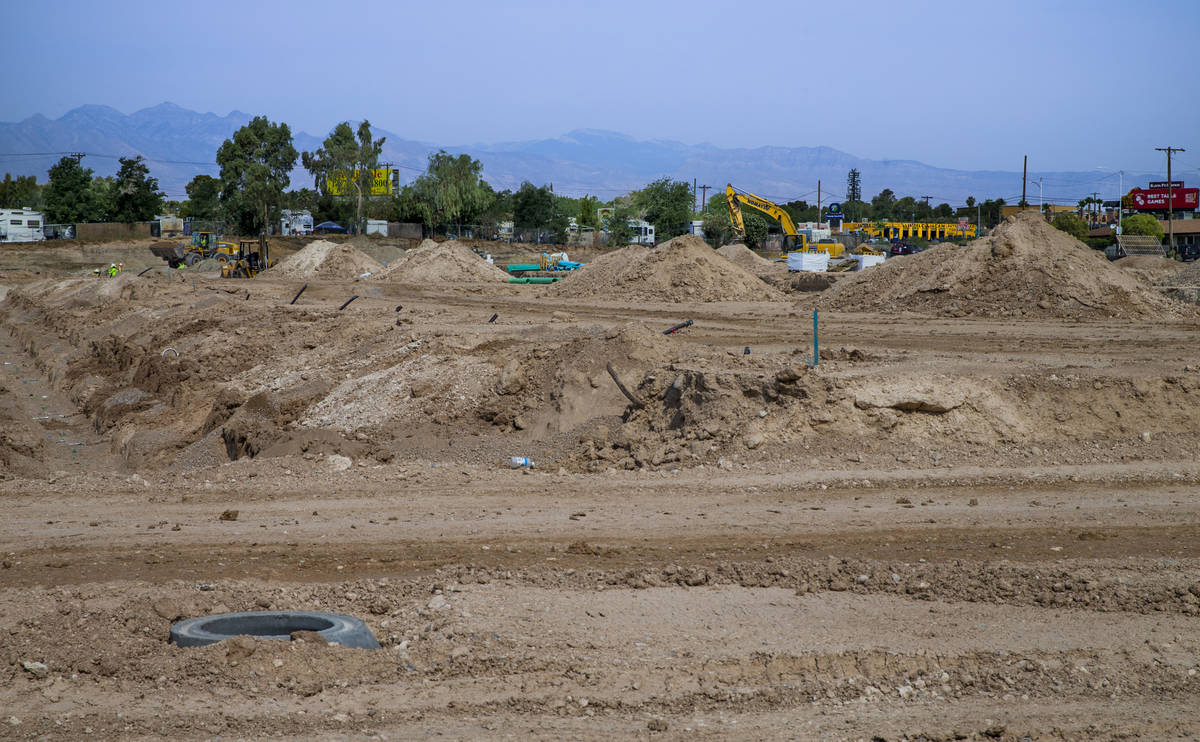 The land is cleared for Arcadia by Harmony Homes off of Rancho Drive on Wednesday, June 15, 202 ...