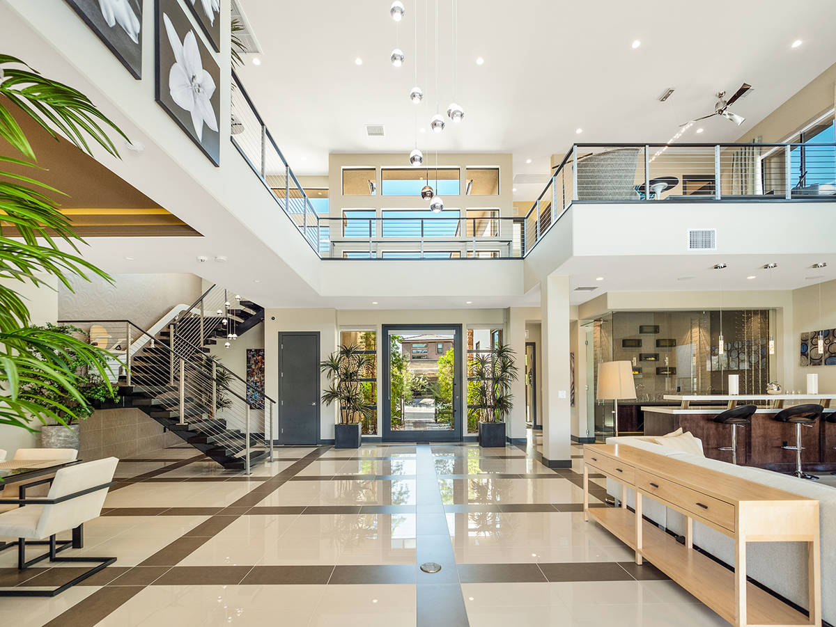 The 4,620-square-foot mansion in The Ridges in Summerlin is an investment property for Carlos S ...