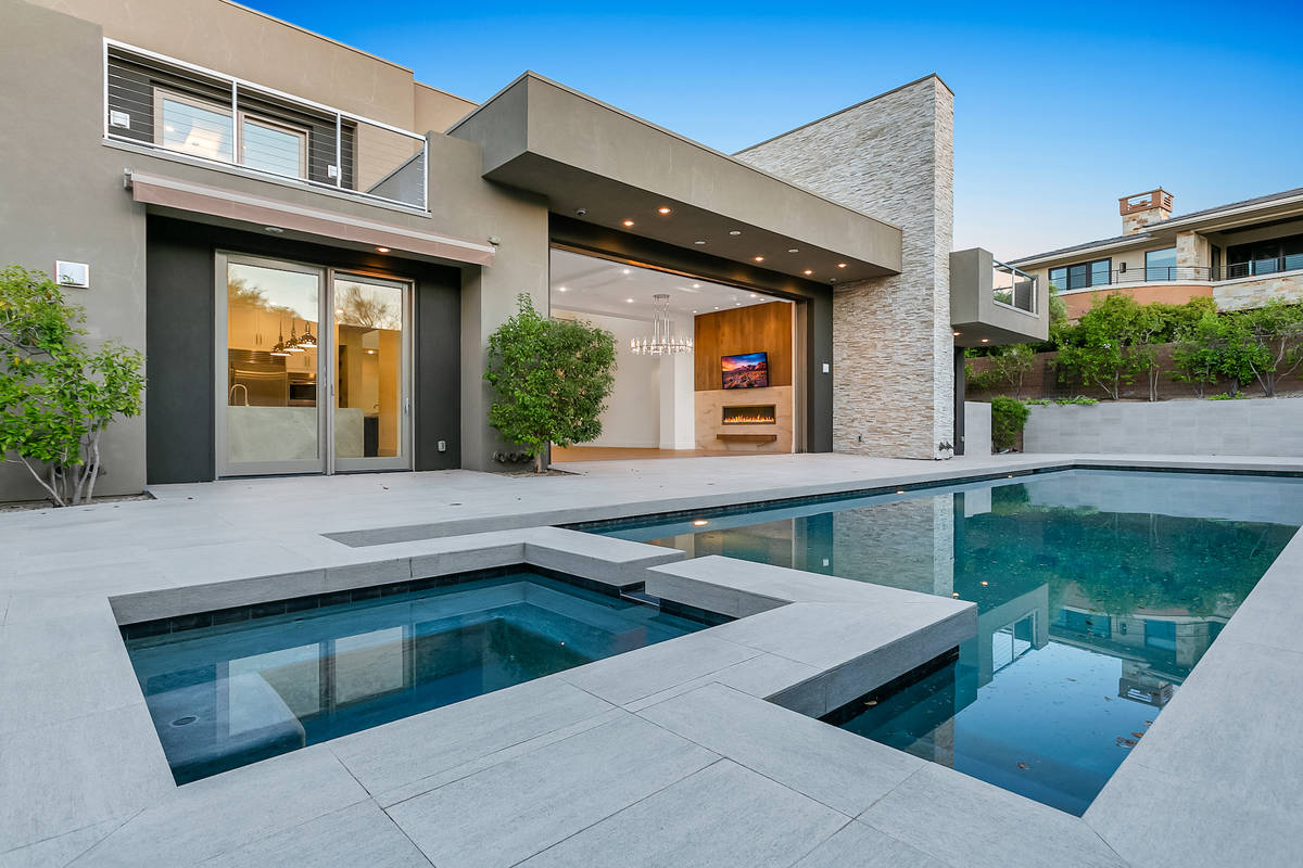 This home in The Ridges neighborhood of Summerlin has listed for $5.8 million. The homeowners h ...