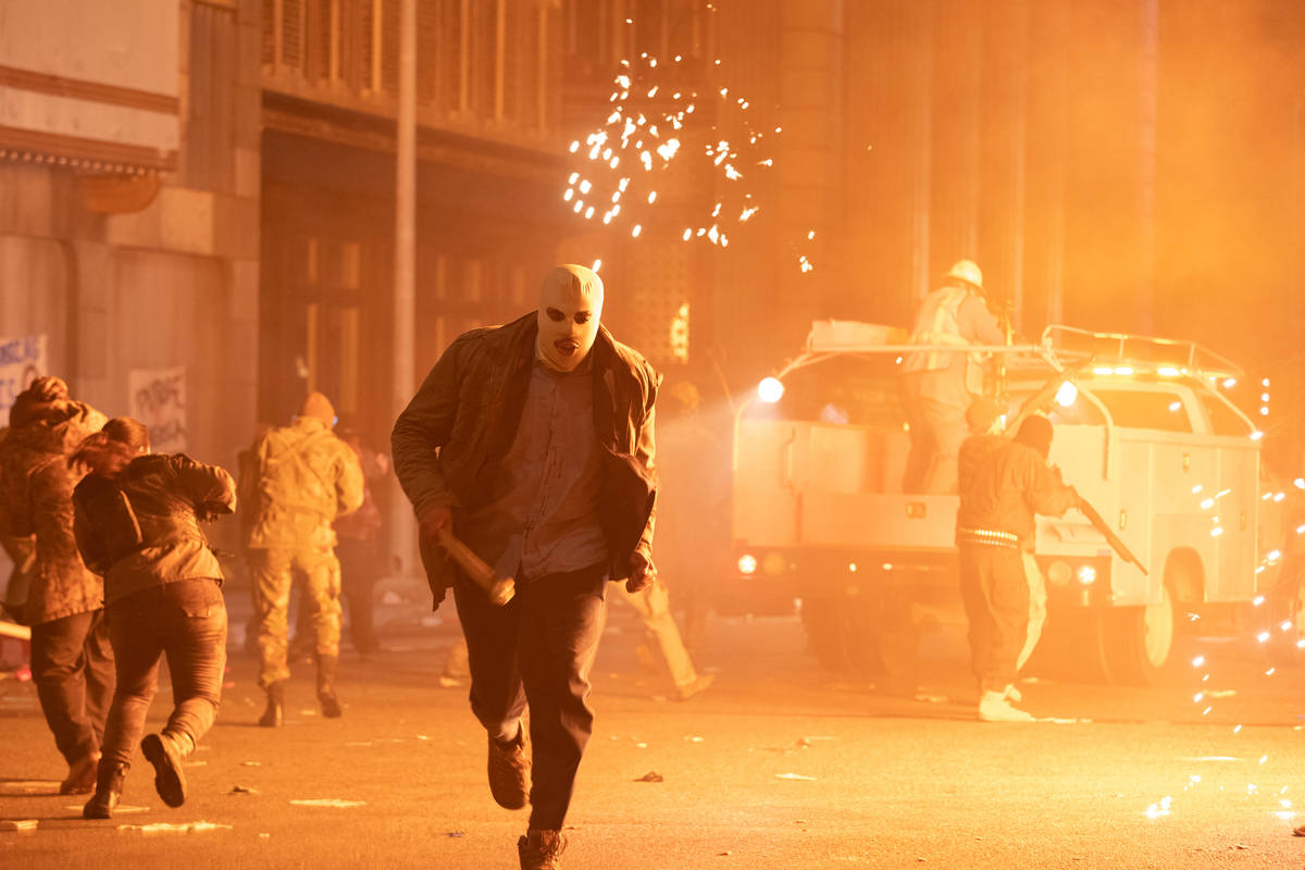 A Purger in The Forever Purge, directed by Everardo Gout. (Jake Giles Netter/Universal Pictures)