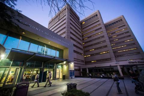 Clark County Detention Center is seen in downtown Las Vegas. (Chase Stevens/Las Vegas Review-Jo ...
