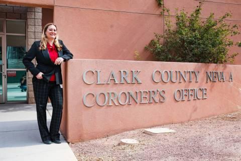 Clark County Coroner Melanie Rouse outside the Clark County Coroner Office Thursday, June 17, 2 ...
