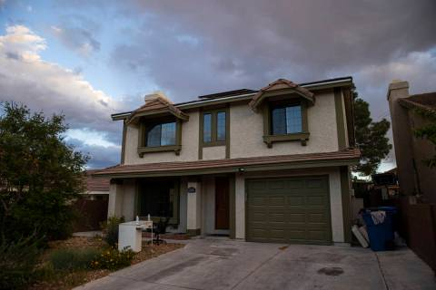 The home where the burned body of Daniel Halseth was found earlier in April in Las Vegas is pic ...