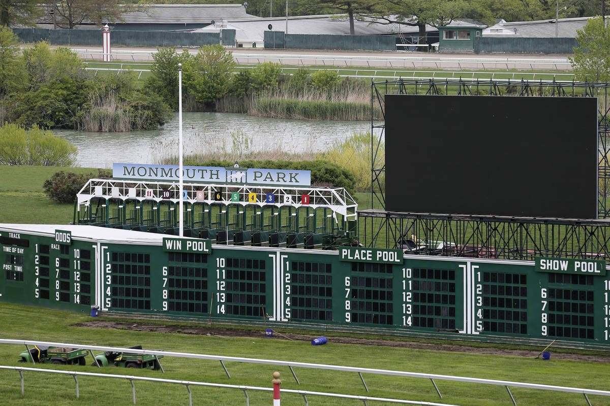 Monmouth Park Racetrack in Oceanport, N.J., Monday, May 14, 2018. (AP Photo/Seth Wenig)