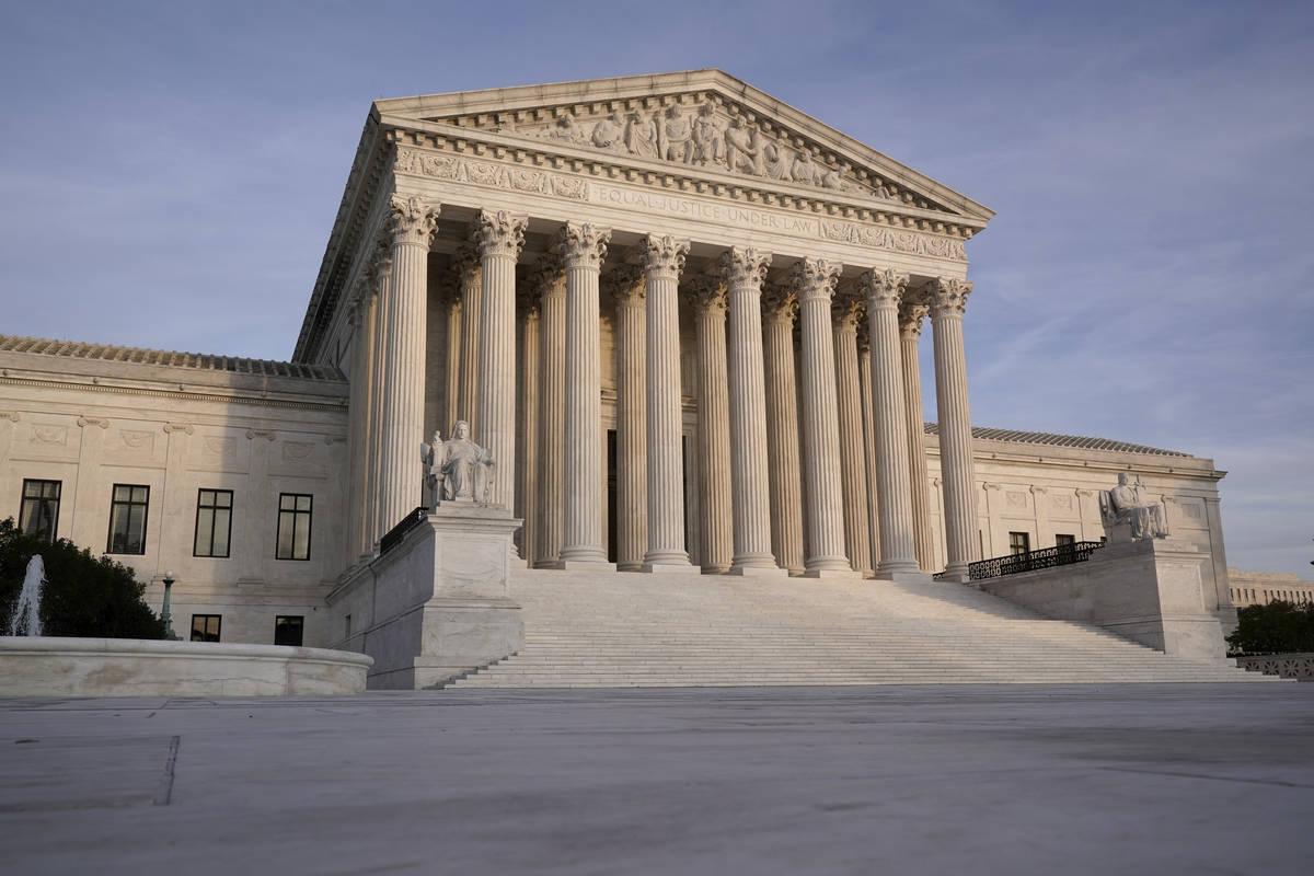In this Nov. 5, 2020 file photo, The Supreme Court is seen in Washington. (AP Photo/J. Scott Ap ...