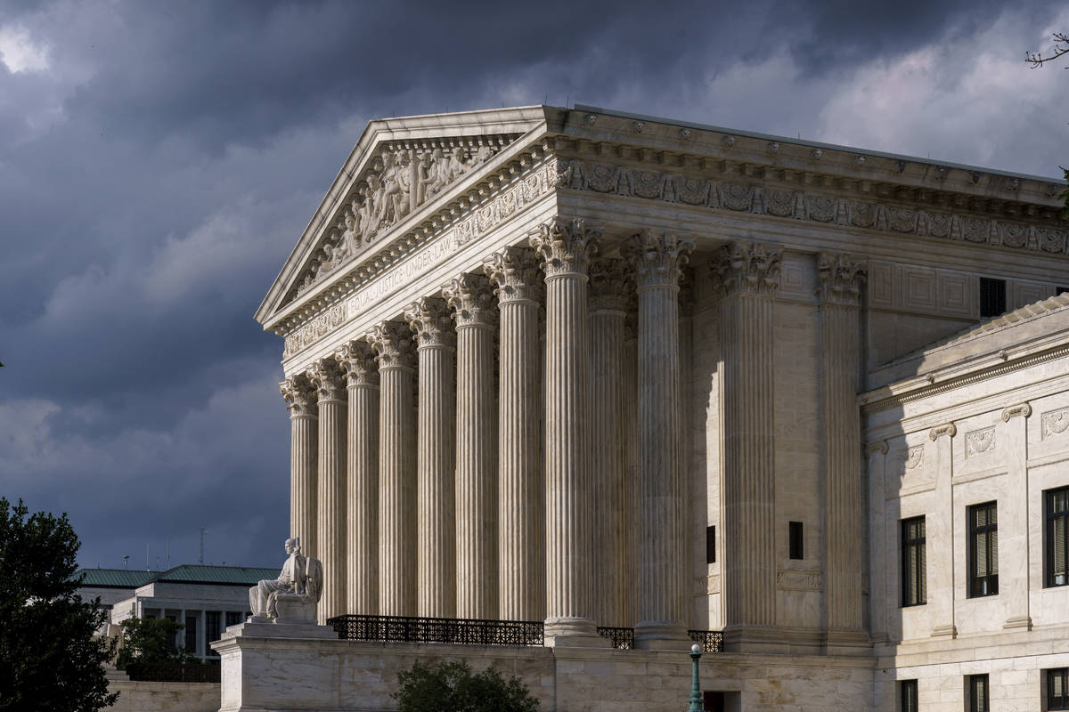 FILE - This June 8, 2021 photo shows the Supreme Court in Washington. (AP Photo/J. Scott Applew ...