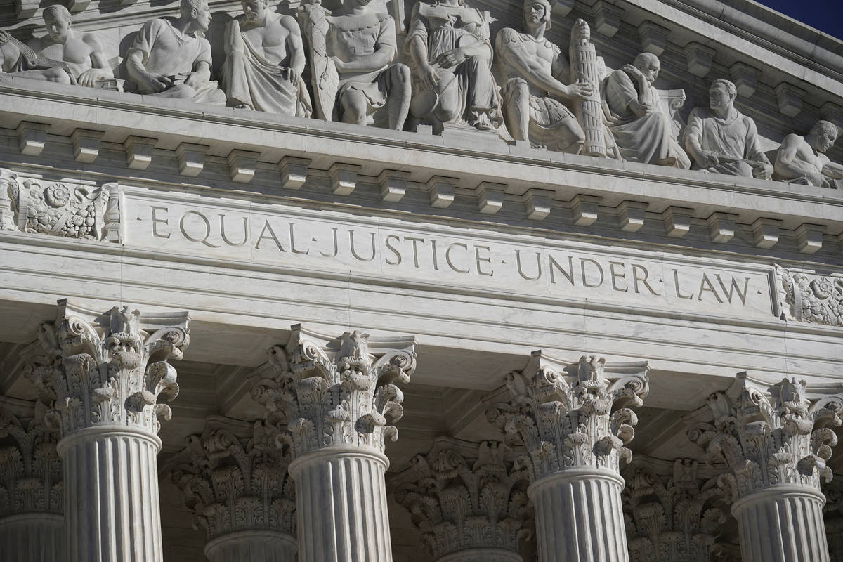 FILE - In this Nov. 4, 2020 file photo, the Supreme Court is seen in Washington. (AP Photo/J. ...