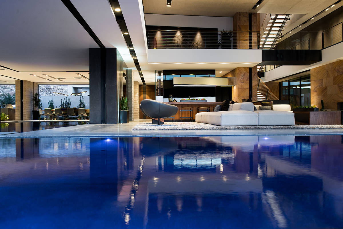 A Blue Heron showcase home in MacDonald Highlands has shattered the all-time Las Vegas sales re ...