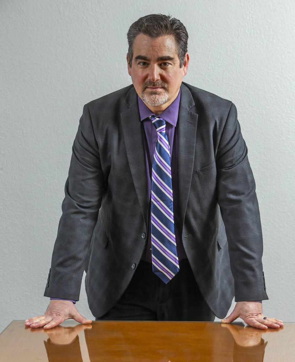 Lawyer Brian Shapiro seen in Las Vegas in 2020. (L.E. Baskow/Las Vegas Review-Journal) @Left_Ey ...