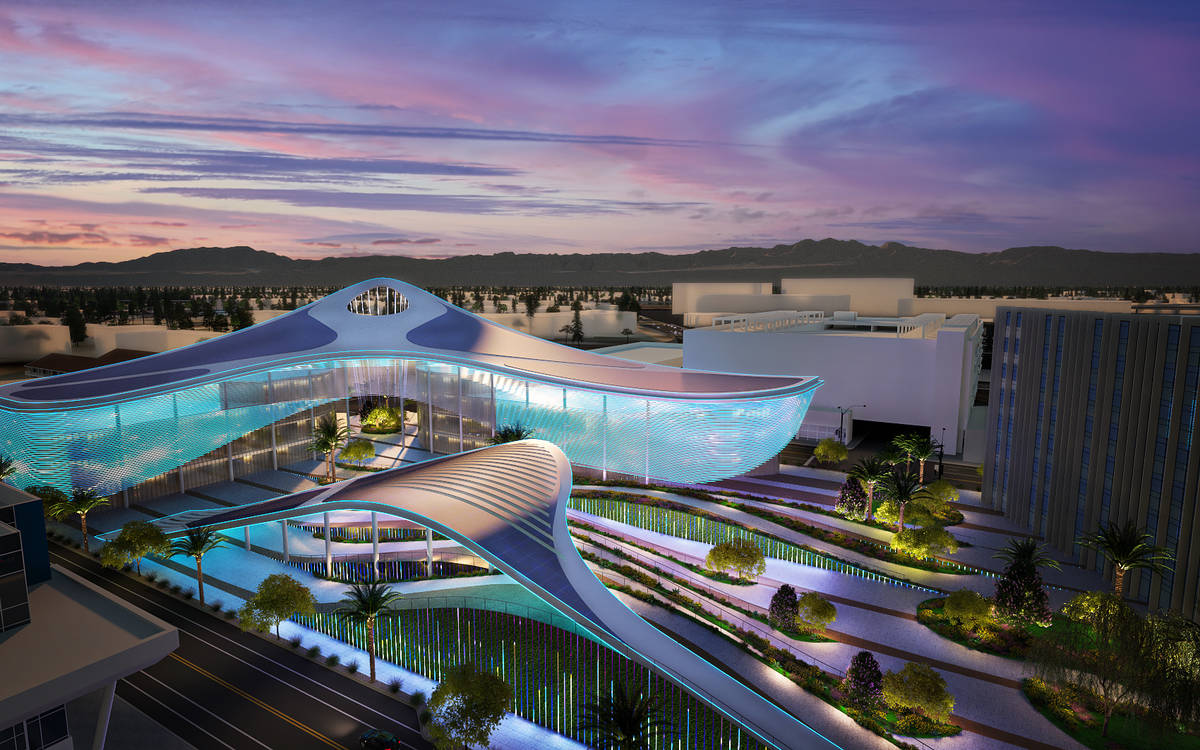 This rendering shows an image from Steelman Partners, one of the three finalist designs, for a ...