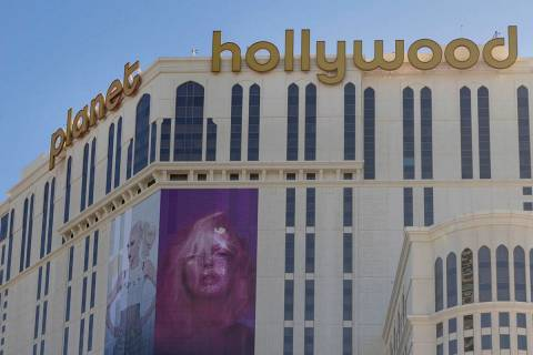A view of Planet Hollywood along the Las Vegas Strip on Wednesday, Aug. 12, 2020. (Las Vegas Re ...
