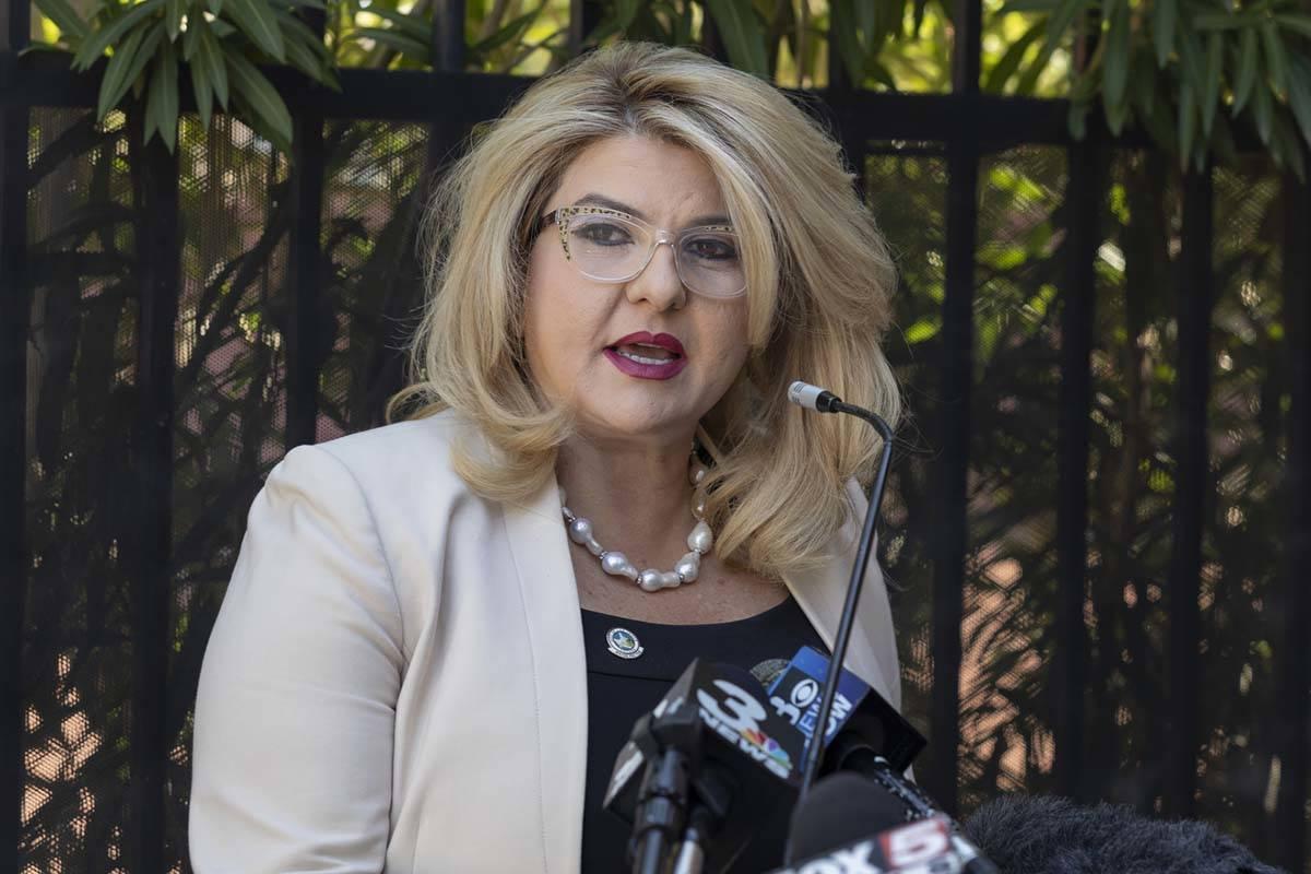 Las Vegas Councilwoman Michele Fiore during a press conference in August 2020. (Las Vegas Revie ...