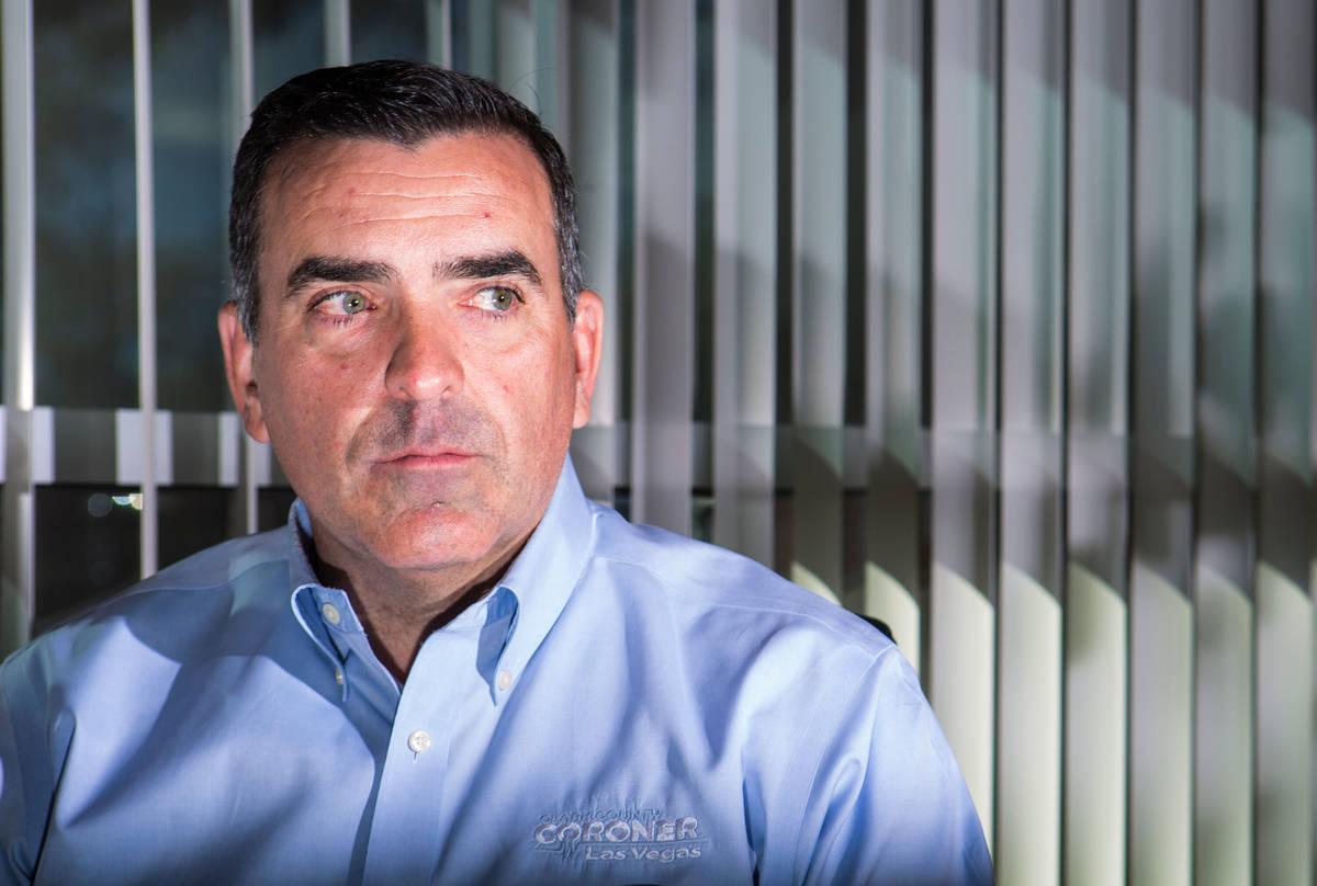 Clark County coroner John Fudenberg left office with a $175,000 retirement package. (Chase Stev ...