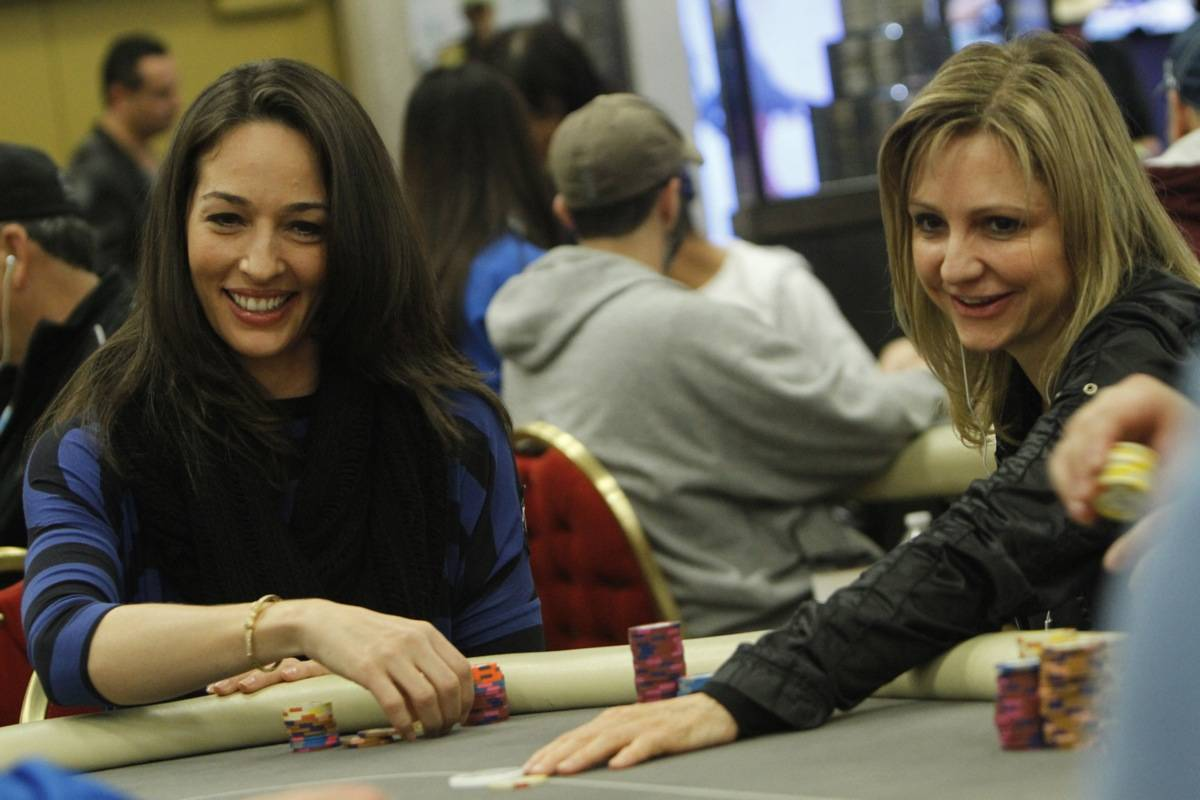 Jennifer Harman, right, plays in a World Poker Tour event with Kara Scott in an undated photo. ...