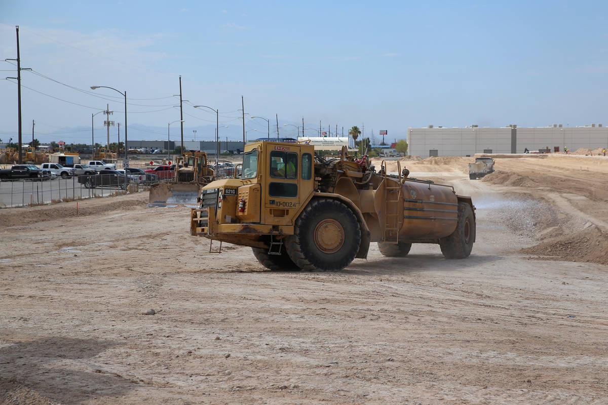 The Golden Triangle industrial park under consecution near the intersection of Washburn Road an ...