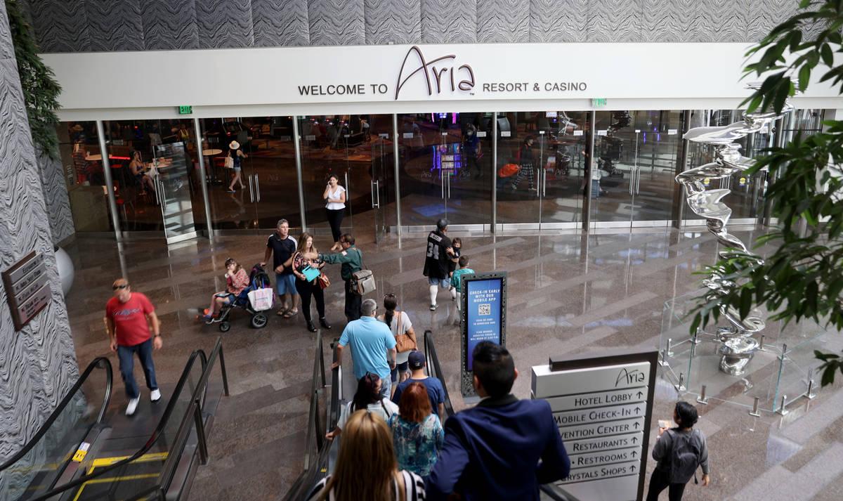 Aria in Las Vegas Thursday, July, 2021. (K.M. Cannon/Las Vegas Review-Journal) @KMCannonPhoto