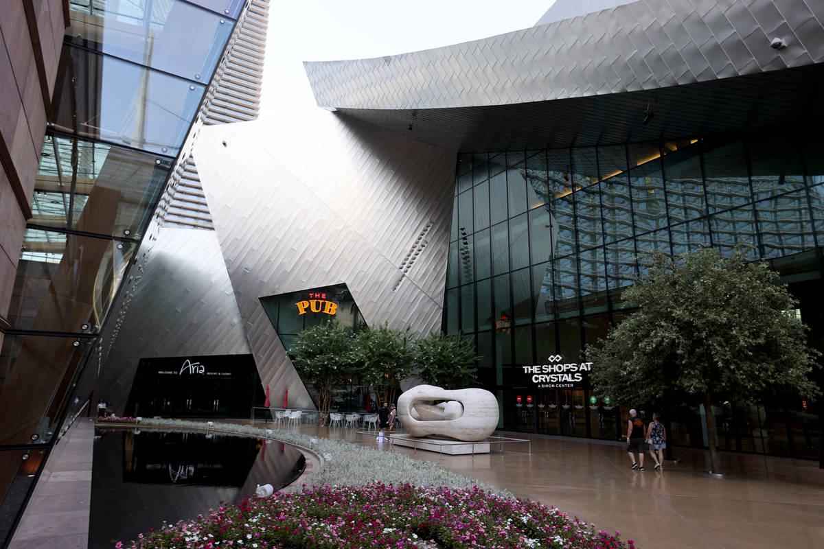 Aria and Shops at Crystals located within CityCenter, on the Strip in Las Vegas Thursday, July ...