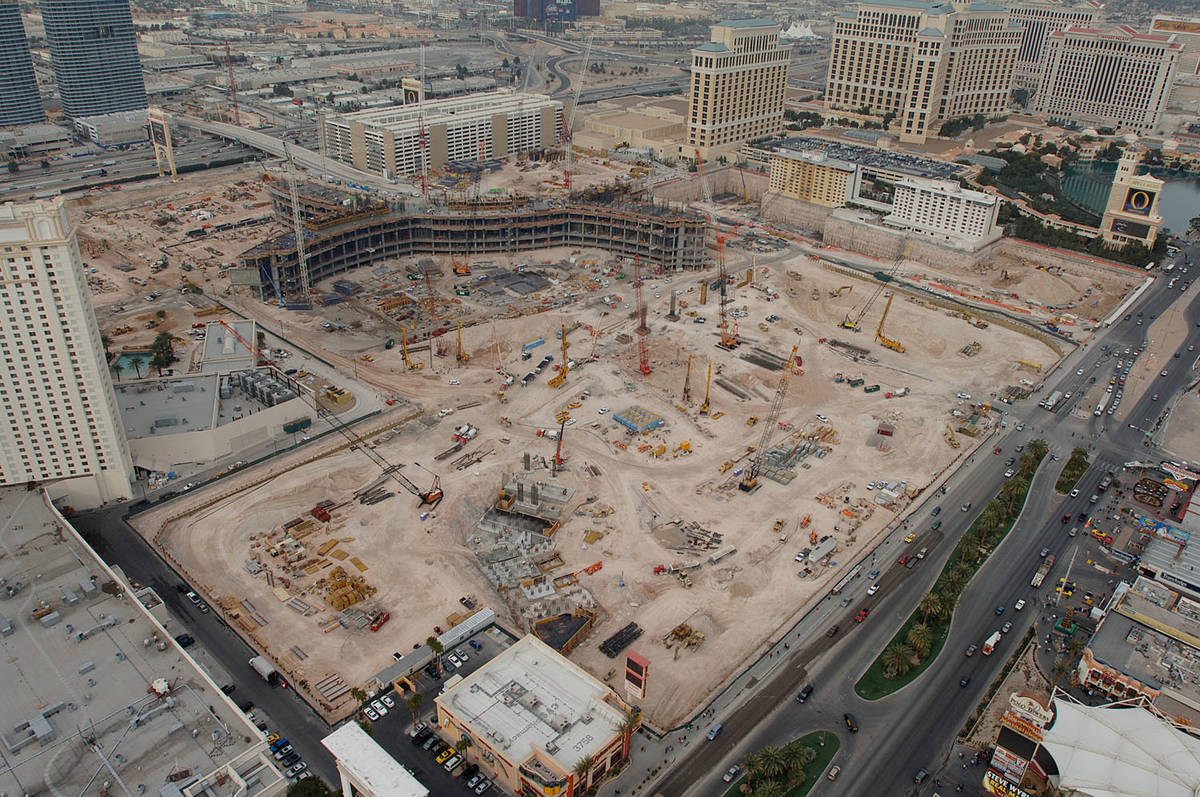 CityCenter is under construction on the Las Vegas Strip in this file photo. (Las Vegas Review-J ...
