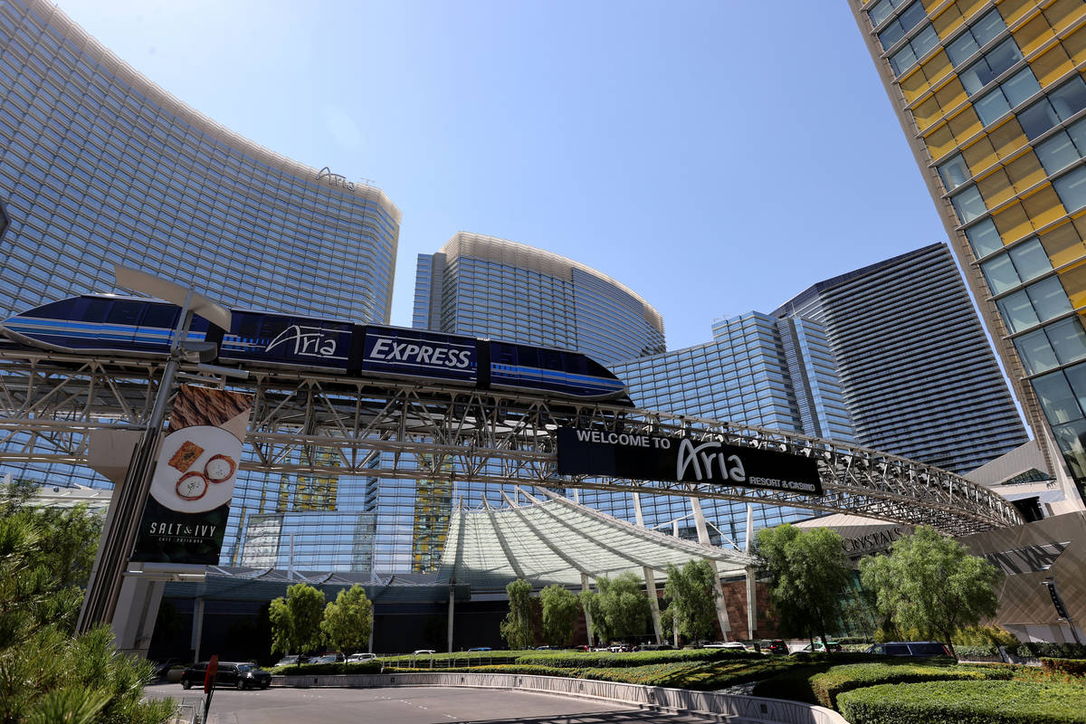 Aria and Vdara in Las Vegas Thursday, July, 2021. (K.M. Cannon/Las Vegas Review-Journal) @KMCan ...