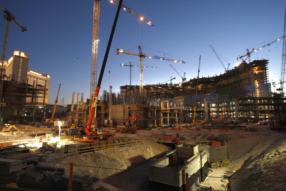 CityCenter is under construction on the Las Vegas Strip on July 12, 2007. (Las Vegas Review-Jou ...