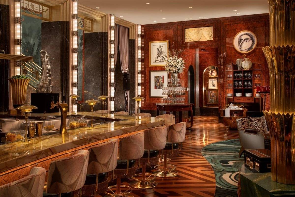 The lower bar at Delilah. (Robert Miller)