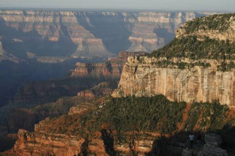 The North Rim of the Grand Canyon boats cooler temperatures and more precipitation than the Sou ...