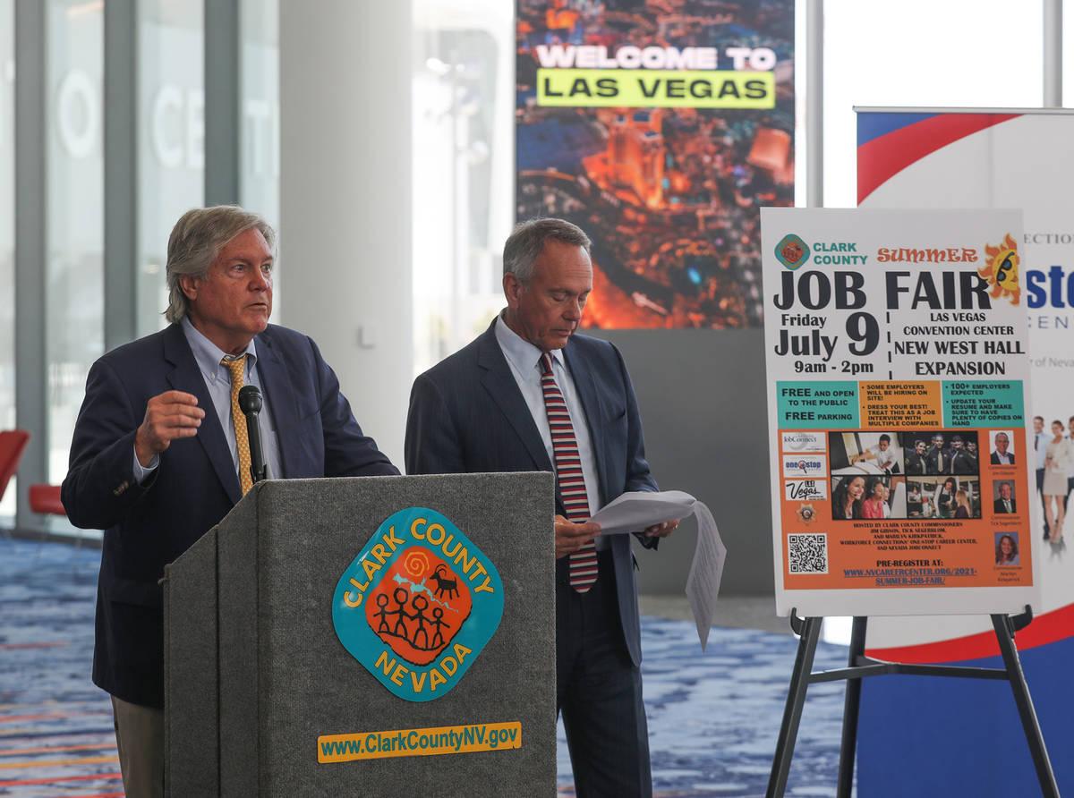 Clark County Commissioner Tick Segerblom urges the public not to wait until unemployment benef ...