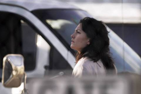 Heather Catherine Tallchief is escorted to the Clark County Detention Center in Las Vegas, Thur ...