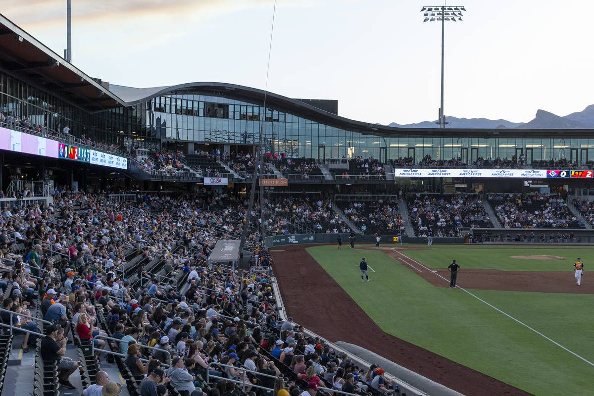 Las Vegas Ballpark allowed fans to fill it at full capacity for the first time since the beginn ...