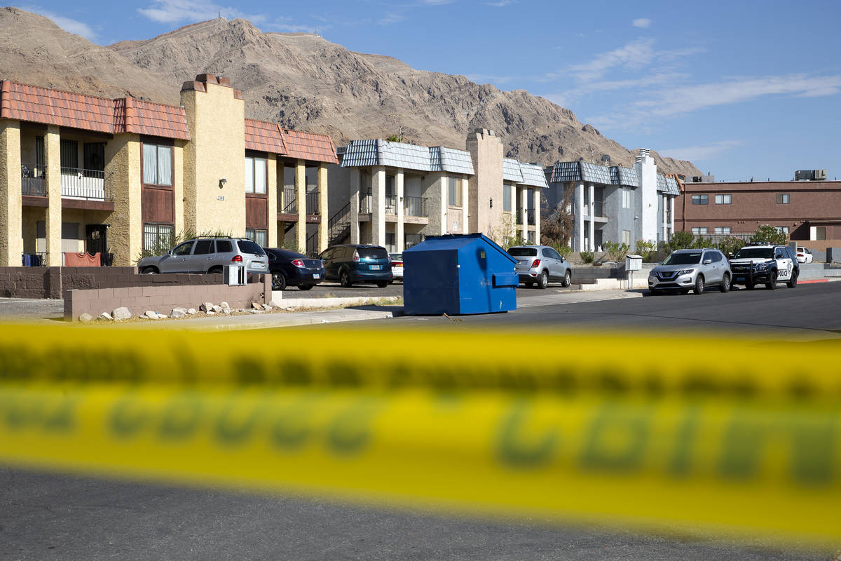 Metropolitan police investigate a homicide in the 6900 block of Mendon Lane in the northeast va ...