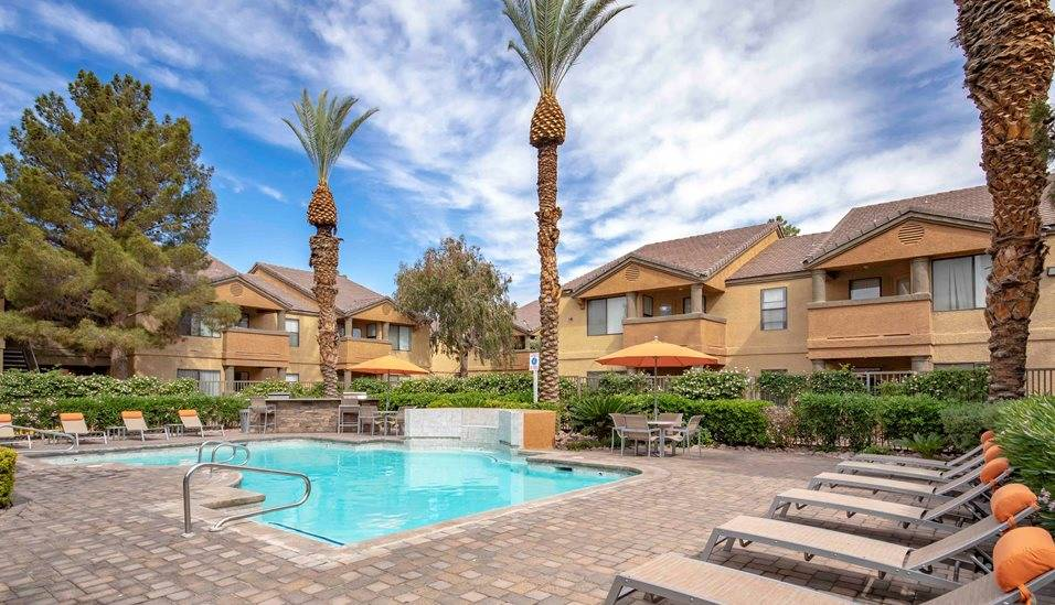 The Bascom Group acquired Spectra at 4000, a Las Vegas apartment complex seen here, as part of ...