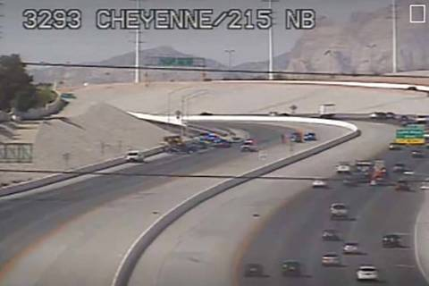 A fatal vehicle crash has closed a segment of the 215 Beltway in the Las Vegas Valley. (RTC tra ...