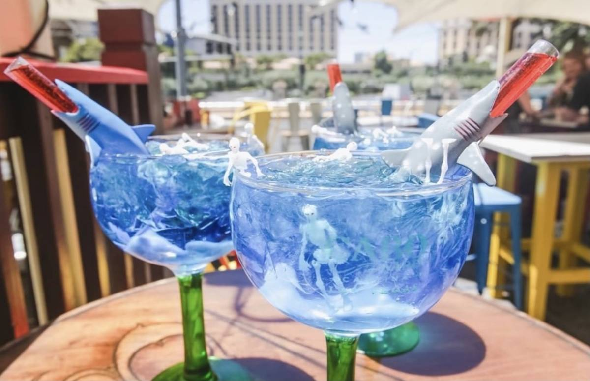 The Shark Tank cocktail is available at Cabo Wabo Cantina at the Miracle Mile Shops durig Shark ...