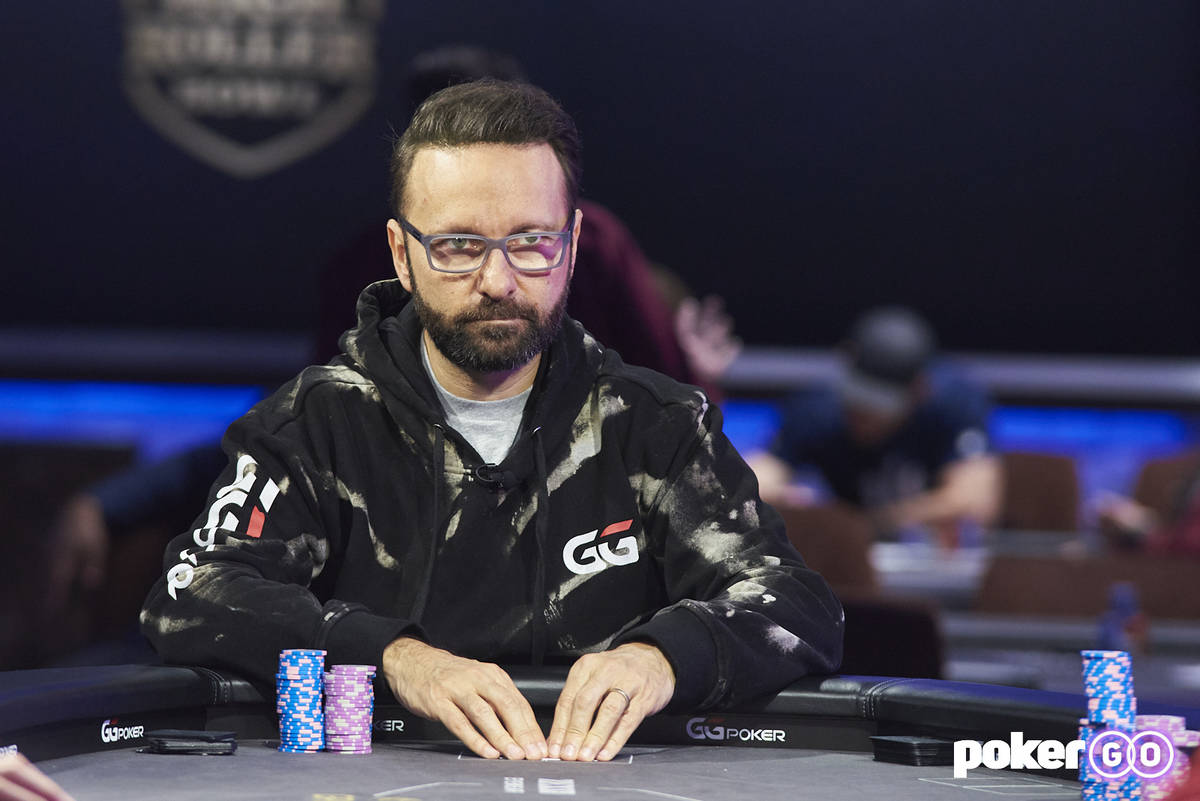 Daniel Negreanu at the final table of the $50,000 buy-in event of the PokerGO Cup on Tuesday, J ...