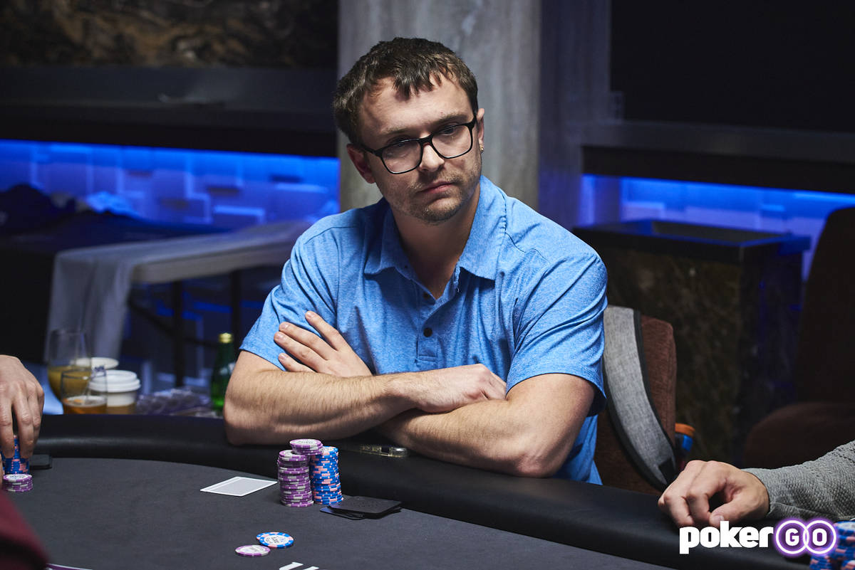 David Coleman plays in an earlier PokerGO Cup event on Tuesday, July 6, 2021. (Antonio Abrego/P ...