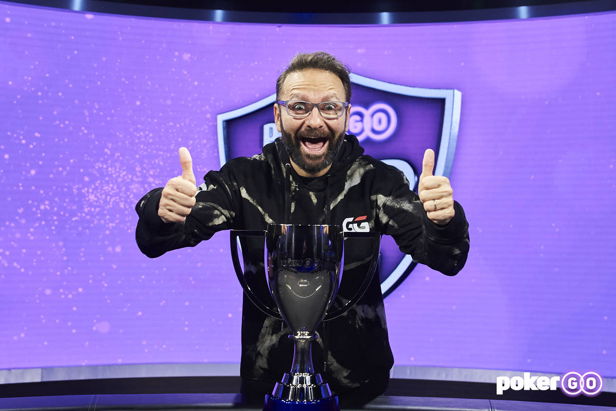 Daniel Negreanu after winning the overall PokerGO Cup series title Wednesday, July 14, 2021, at ...