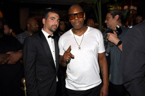 John Terzian and Dave Chappelle attend h.wood Group's grand openingof Delilah at Wynn Las Veg ...