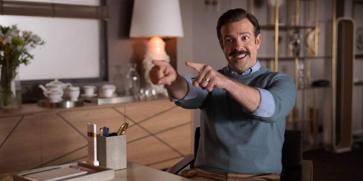 "Jason Sudeikis stars in ""Ted Lasso."" (Apple TV Plus via AP)"