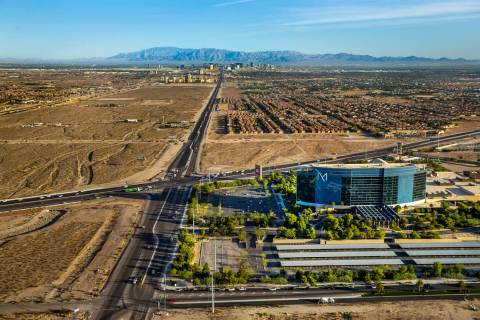 Las Vegas Boulevard stretches north near the M Resort at St. Rose Parkway on Wednesday, Oct. 16 ...