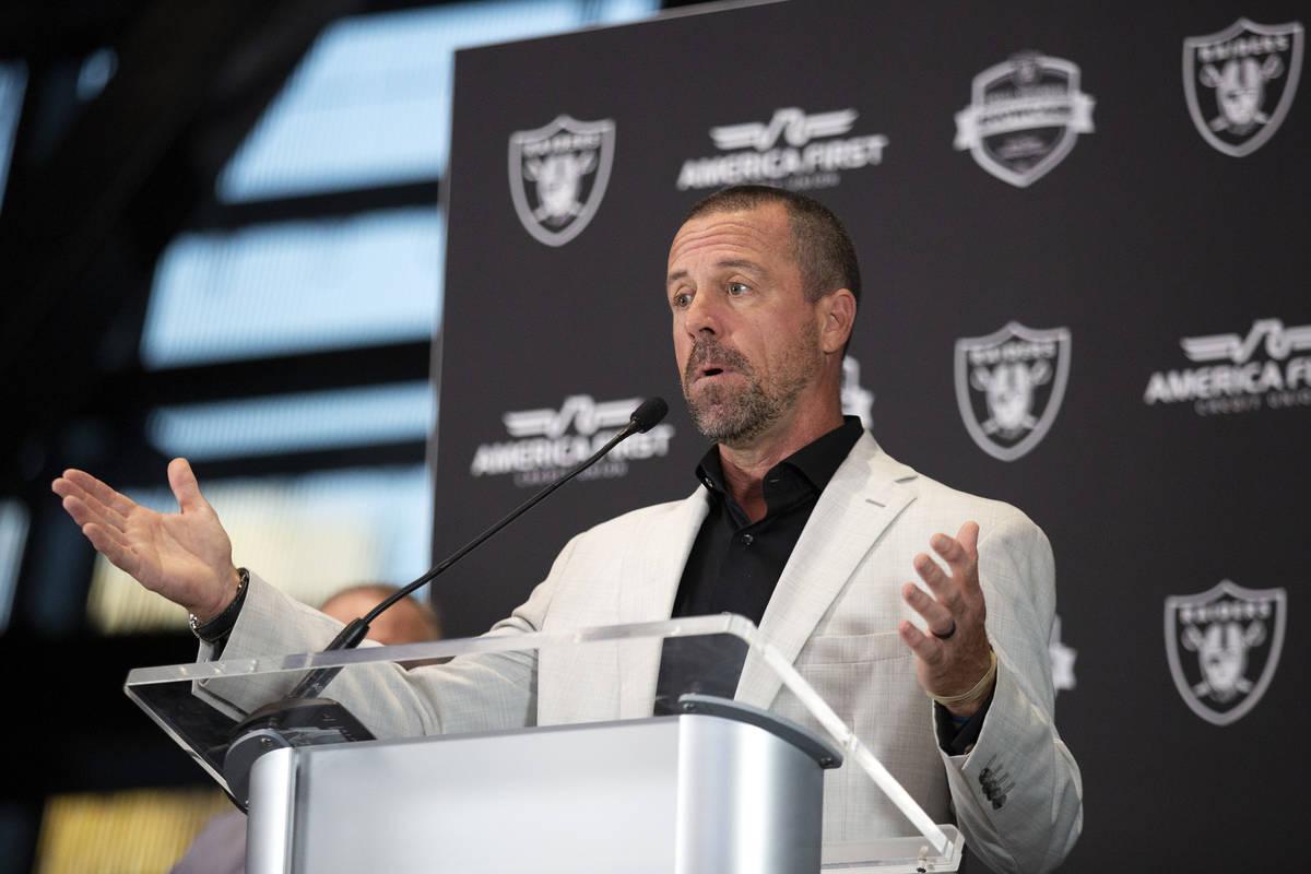 Christian Howard, vice president of corporate partnerships for the Las Vegas Raiders, speaks ah ...