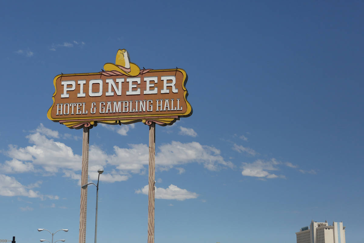 The Pioneer hotel-casino, seen in Laughlin in 2017. (Michael Quine Las Vegas Review-Journal)