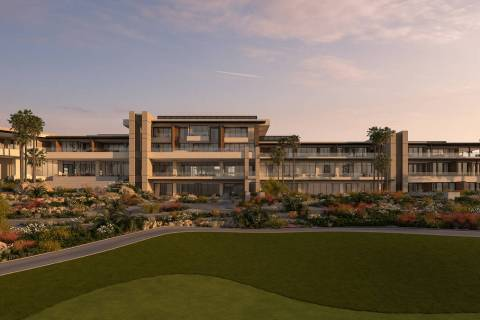 This artist's rendering shows what the 555-acre luxury golf resort community's club house will ...