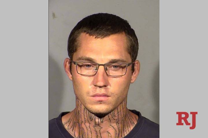 Justin Wenz is charged with burglary and sex assault. (LVMPD)