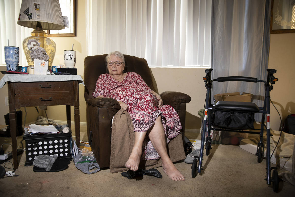 Shirley Soiset, 77, whose rent is going up by about $300 a month, poses for a portrait at her a ...