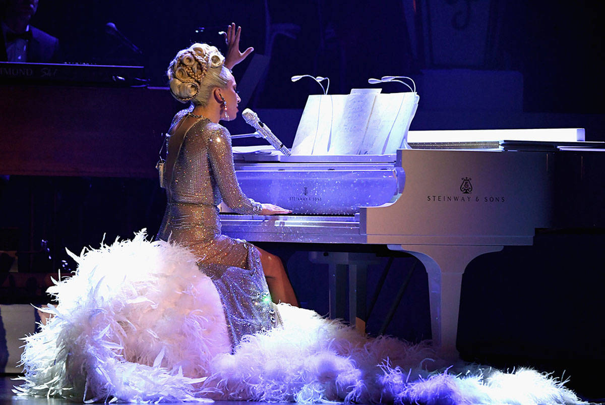 """Lady Gaga performs during her """"Jazz & Piano"""" residency at Park Theater at Park MGM on Jan. 20, ..."""