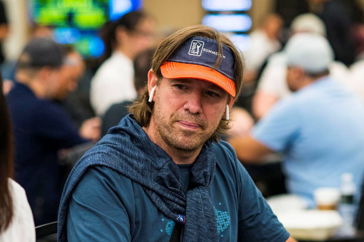 Layne Flack plays in a World Poker Tour event at the Borgata in Atlantic City in 2020. (World P ...