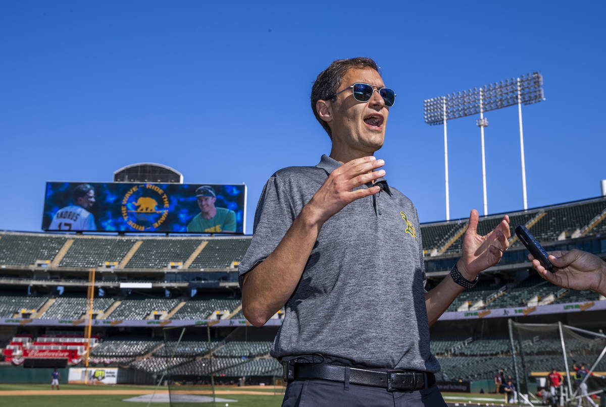 Oakland A's President Dave Kaval talks about the current state of the team, location and future ...