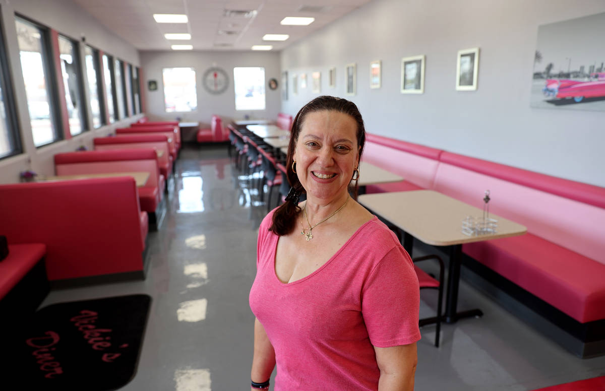 Vickie's Diner owner Vickie Kelesis at her new location in the Commercial Center at 953 E. Sa ...