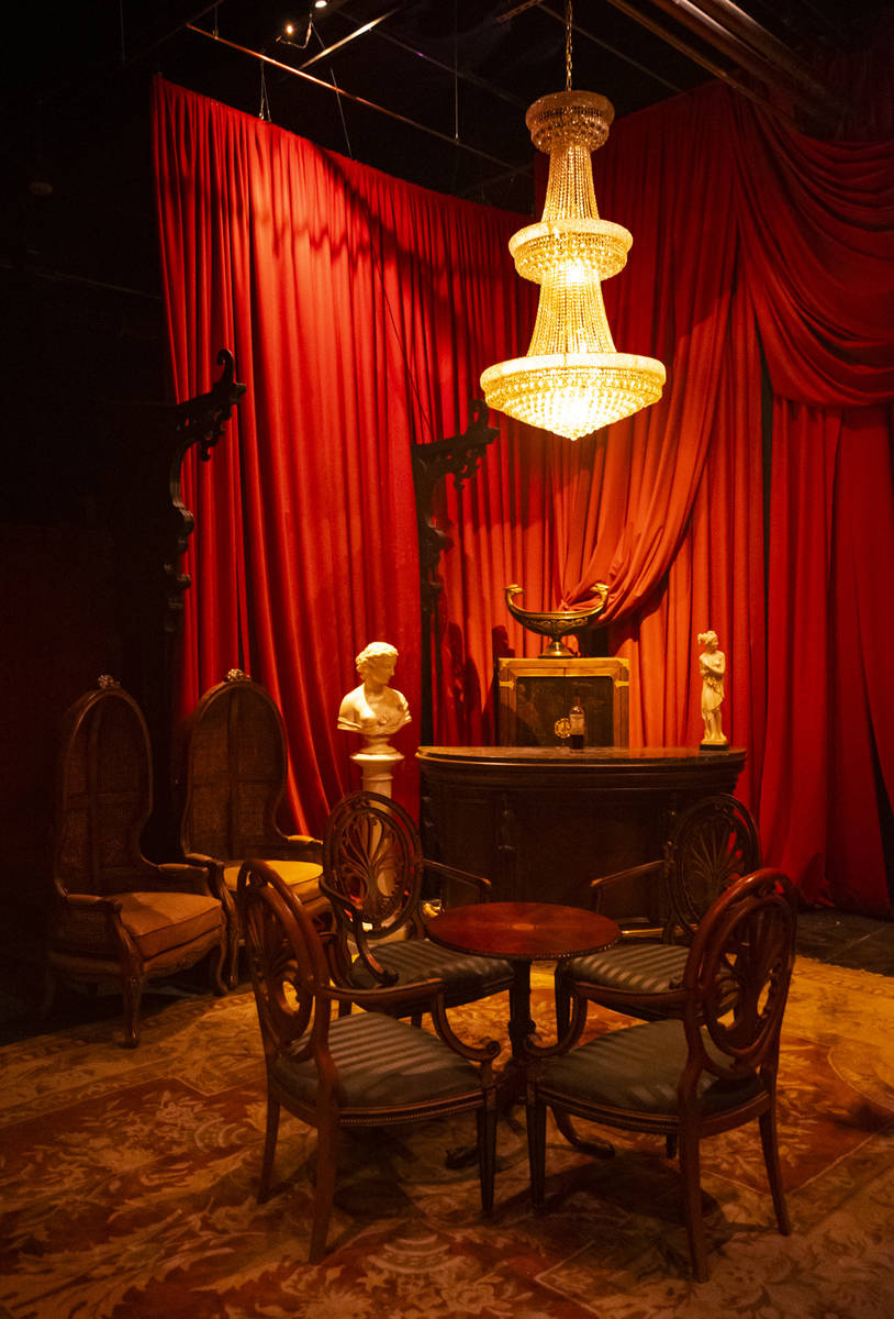 A Victorian-era styled room is seen during a tour of Lost Spirits Distillery, an immersive expe ...