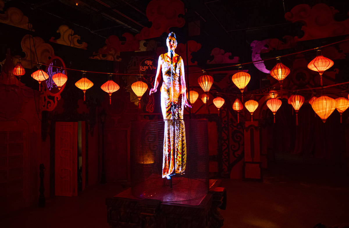 Holographic performers are but one part of the Lost Spirits experience. (Chase Stevens/Las Vega ...